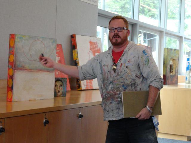 Oregon college of Art & Craft, Pat's T.A. Jason Moline.