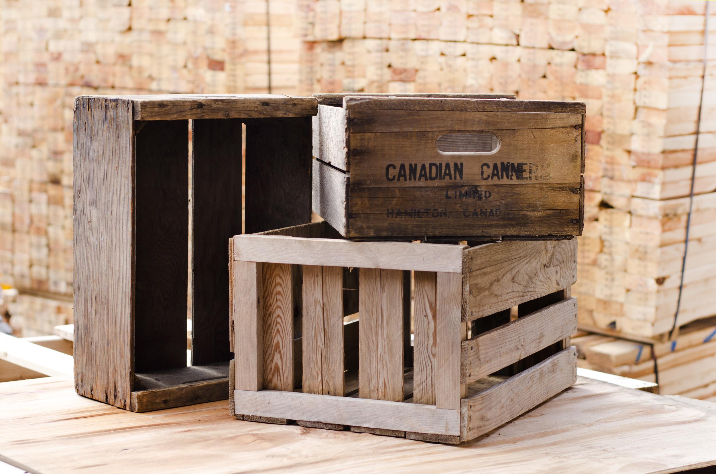 canadian wood crates