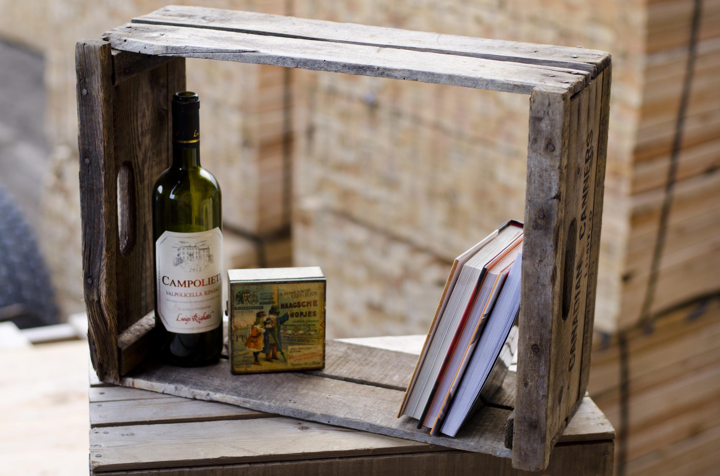 vintage style wooden shelf
