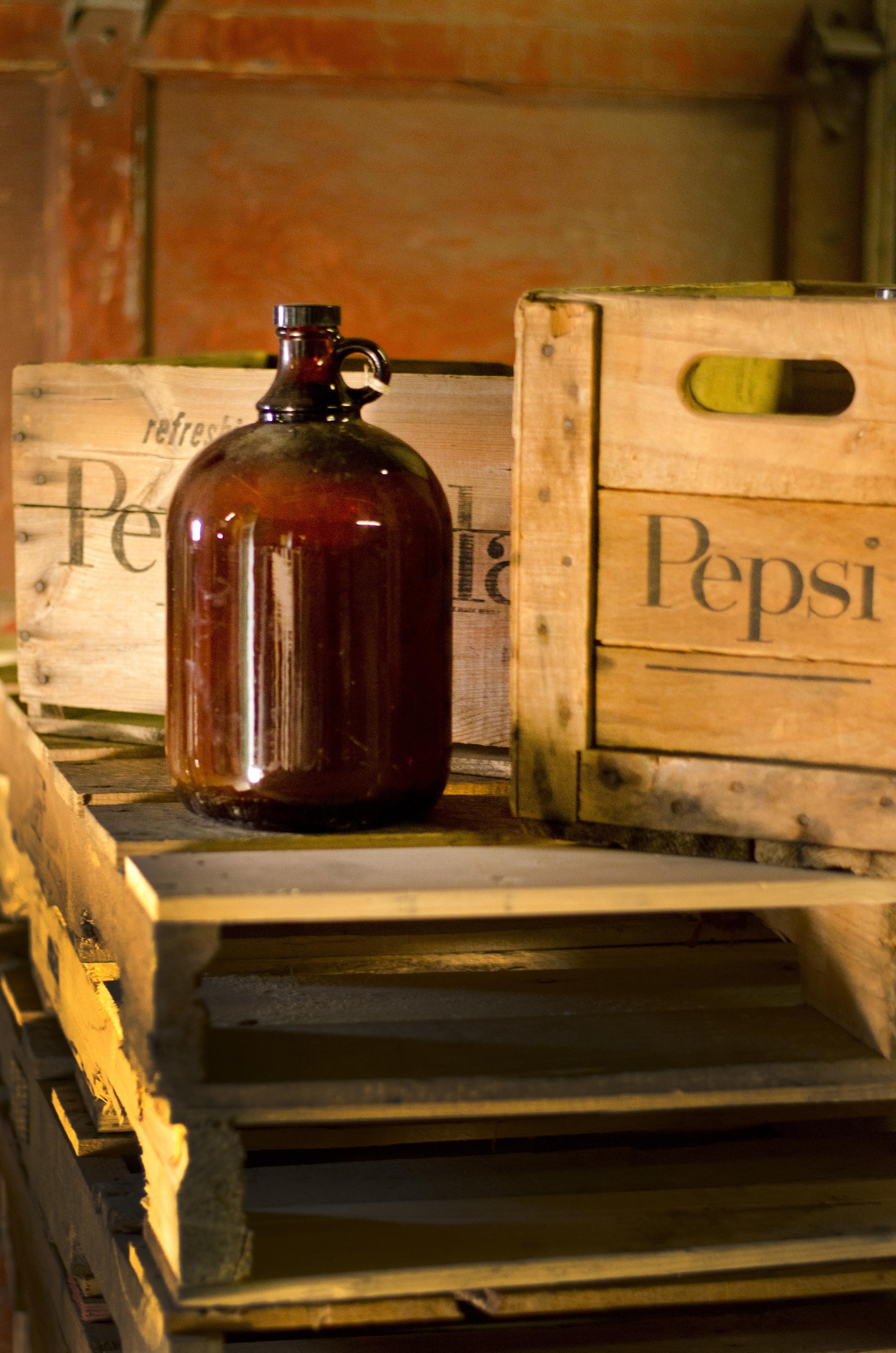 pepsi soda wooden crates