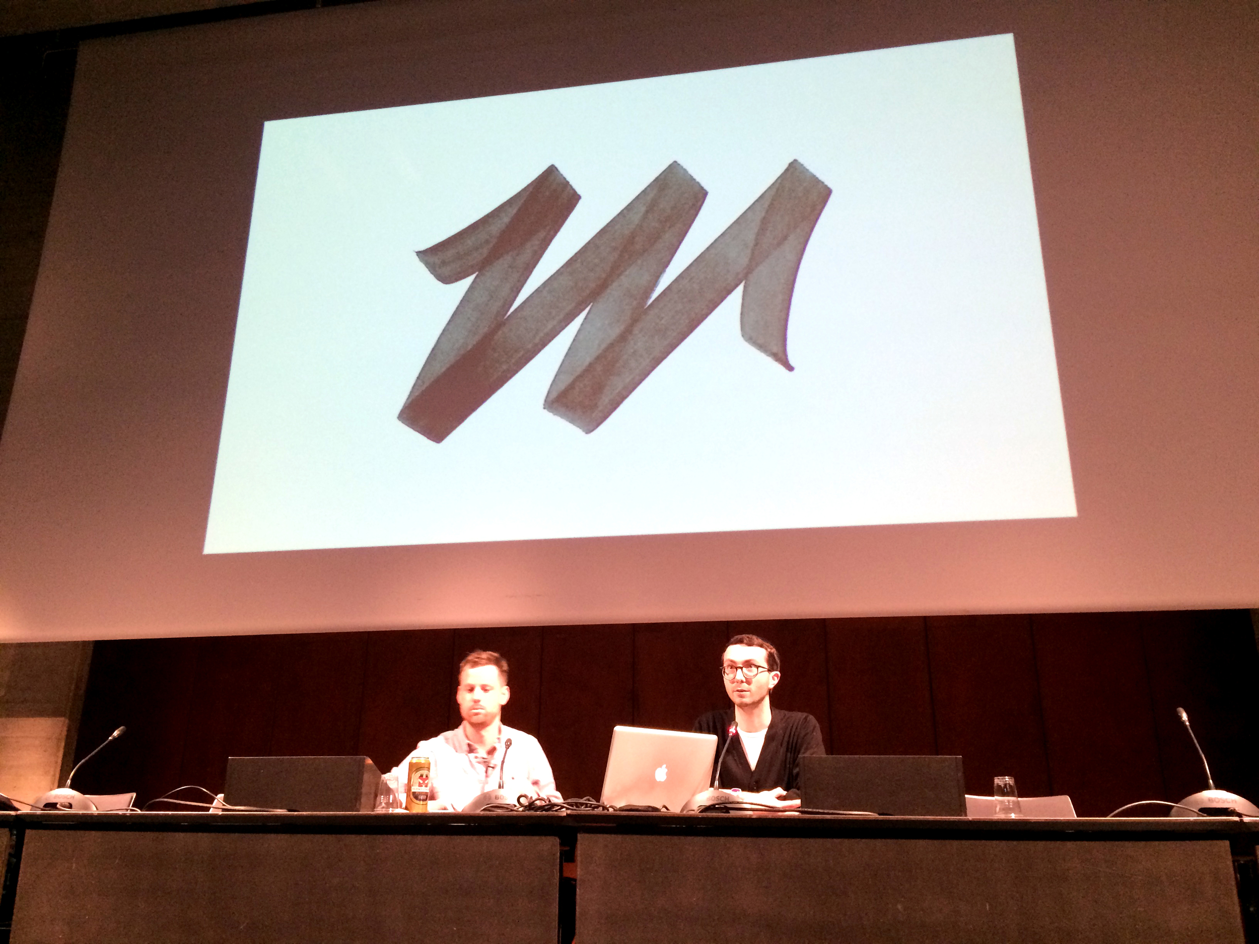 Philipp Herrmann  at his portfolio presentation with Davide Fornari
