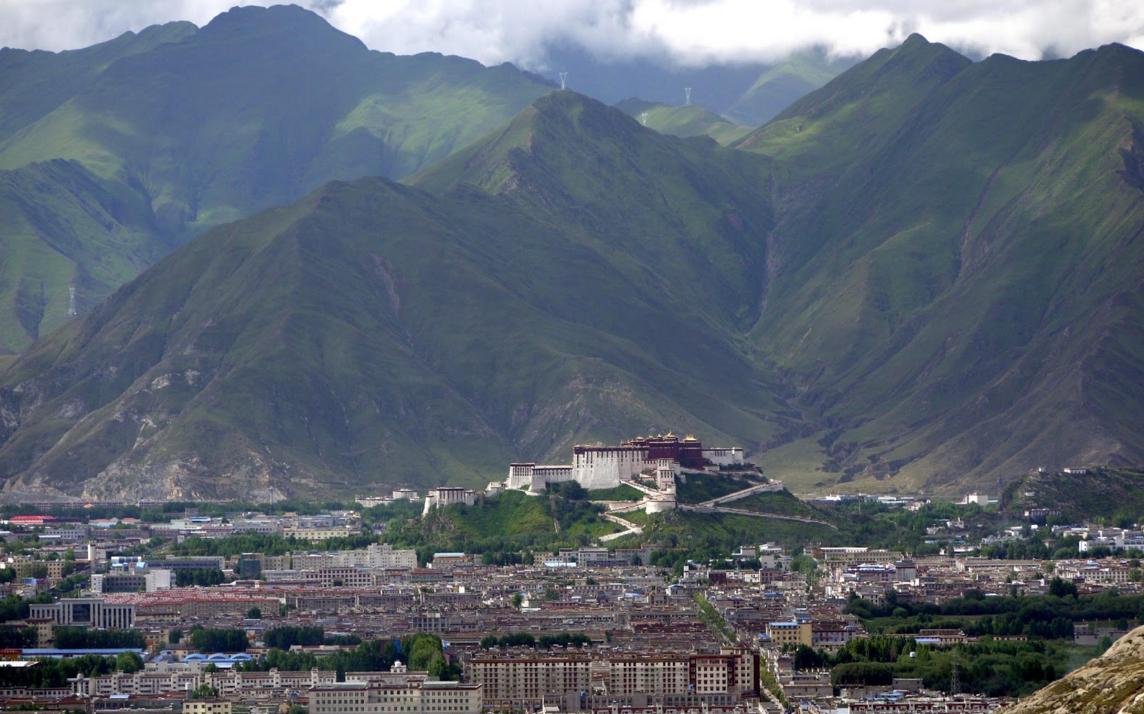 Figure 1.   Lhasa from the Pabonka Monastery. 2011. N.p