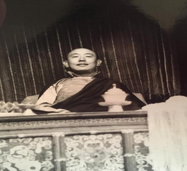 Figure 4: My grandfather, Trinley Gyatso, in his late twenties at the Chusang Monastery c. 1964