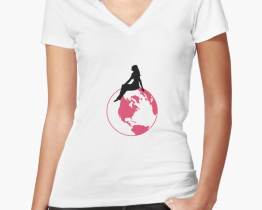 World Girl V-Neck