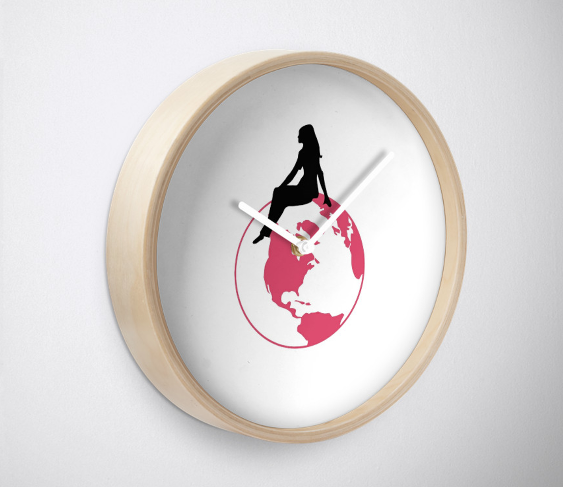 World Girl Wall Clock