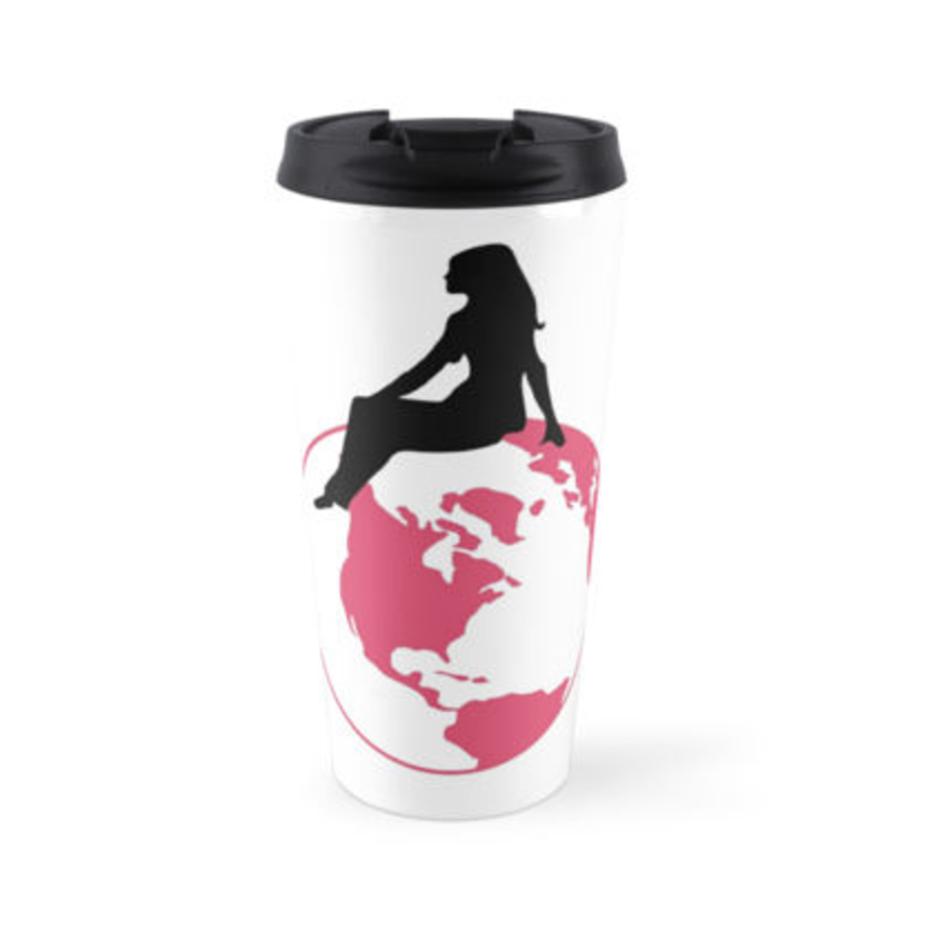 World Girl Travel Mug