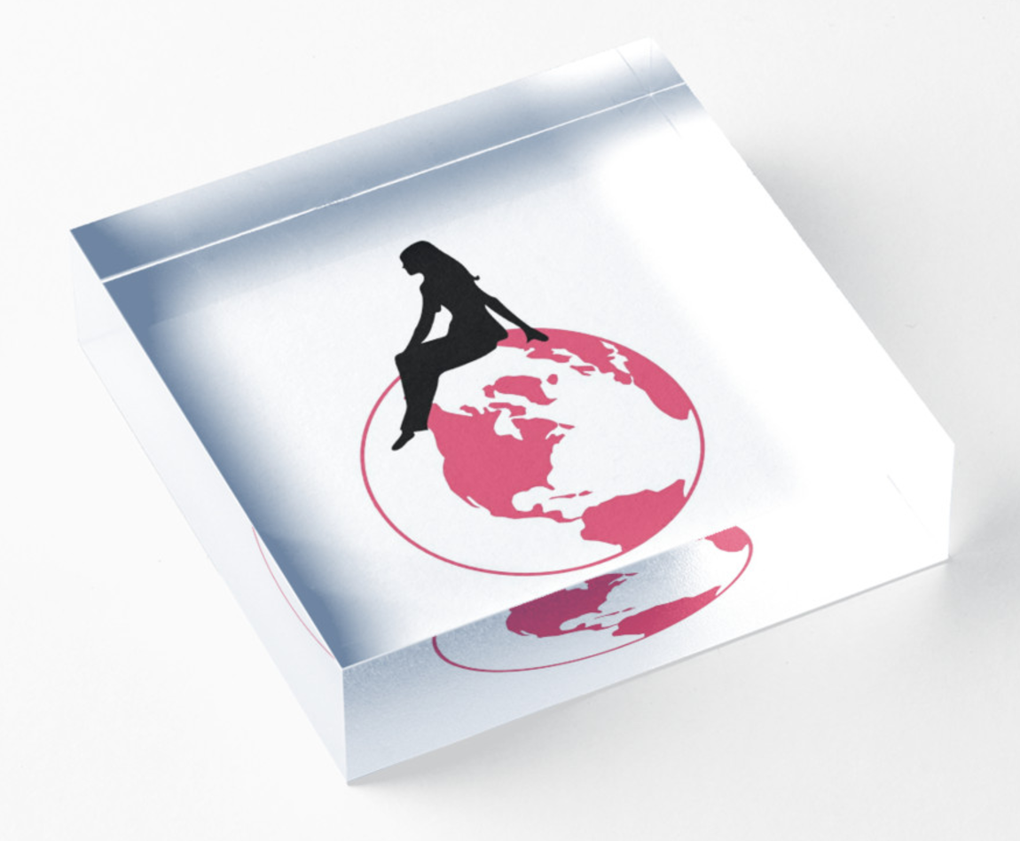 World Girl Acrylic Block