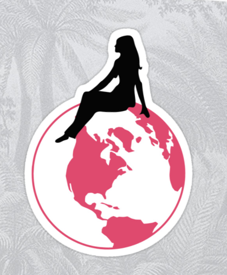 World Girl Sticker