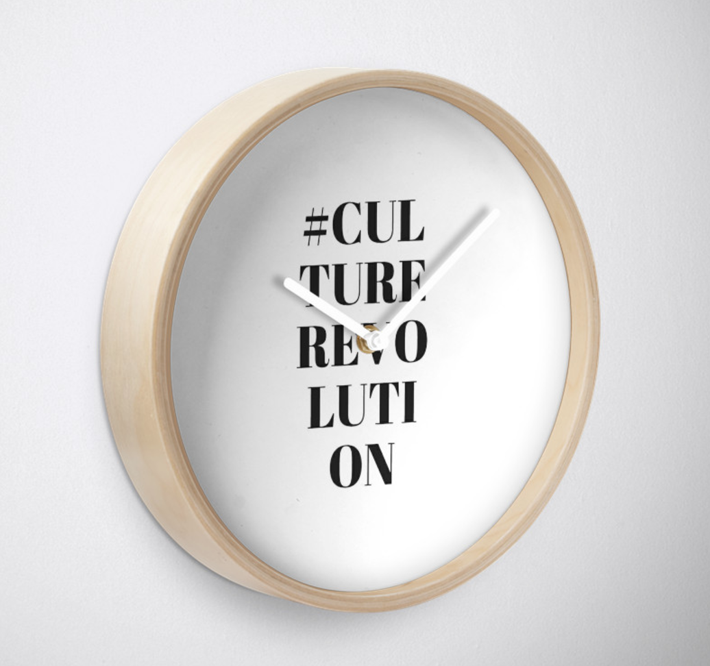 Hashtag Wall Clock