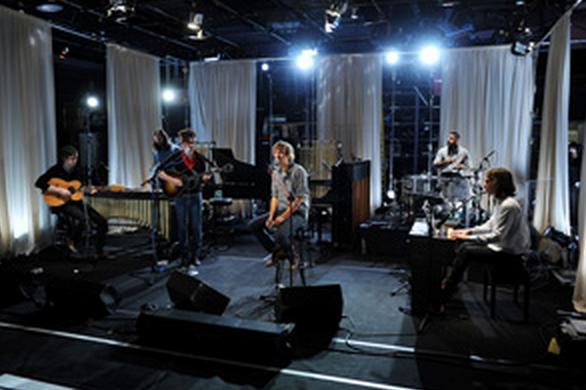 """Another   MTV Unplugged   guest this month, Grammy-winners   Phoenix   . The band performed songs from their   Wolfgang Amadeus Phoenix   album along with songs from 2006's   It's Never Been Like That   including a new take on """"   Long Distance Call.   """" Jason Marcucci tracked the taping and Mike Judeh assisted."""