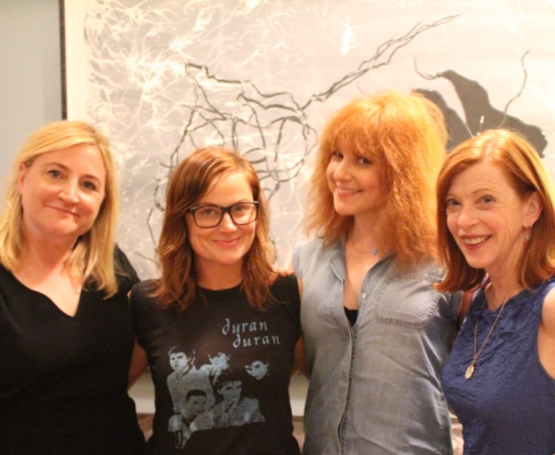 Left to right: Sarah Thyre, Amy Poehler, Julie Klausner, Susan Orlean