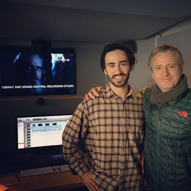 Engineer Sam Palumbo with Linus Roache