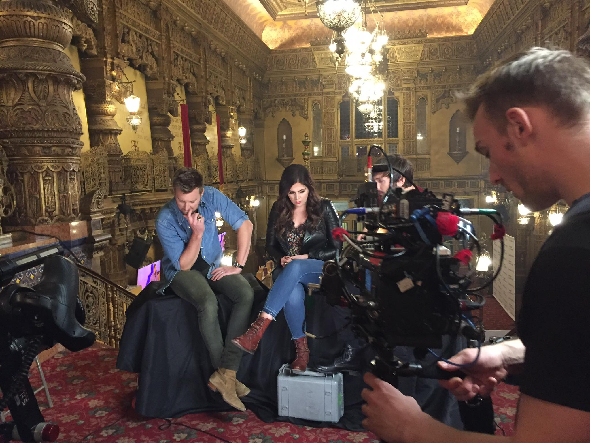 Lady Antebellum's interview took place in the lobby of United Palace.