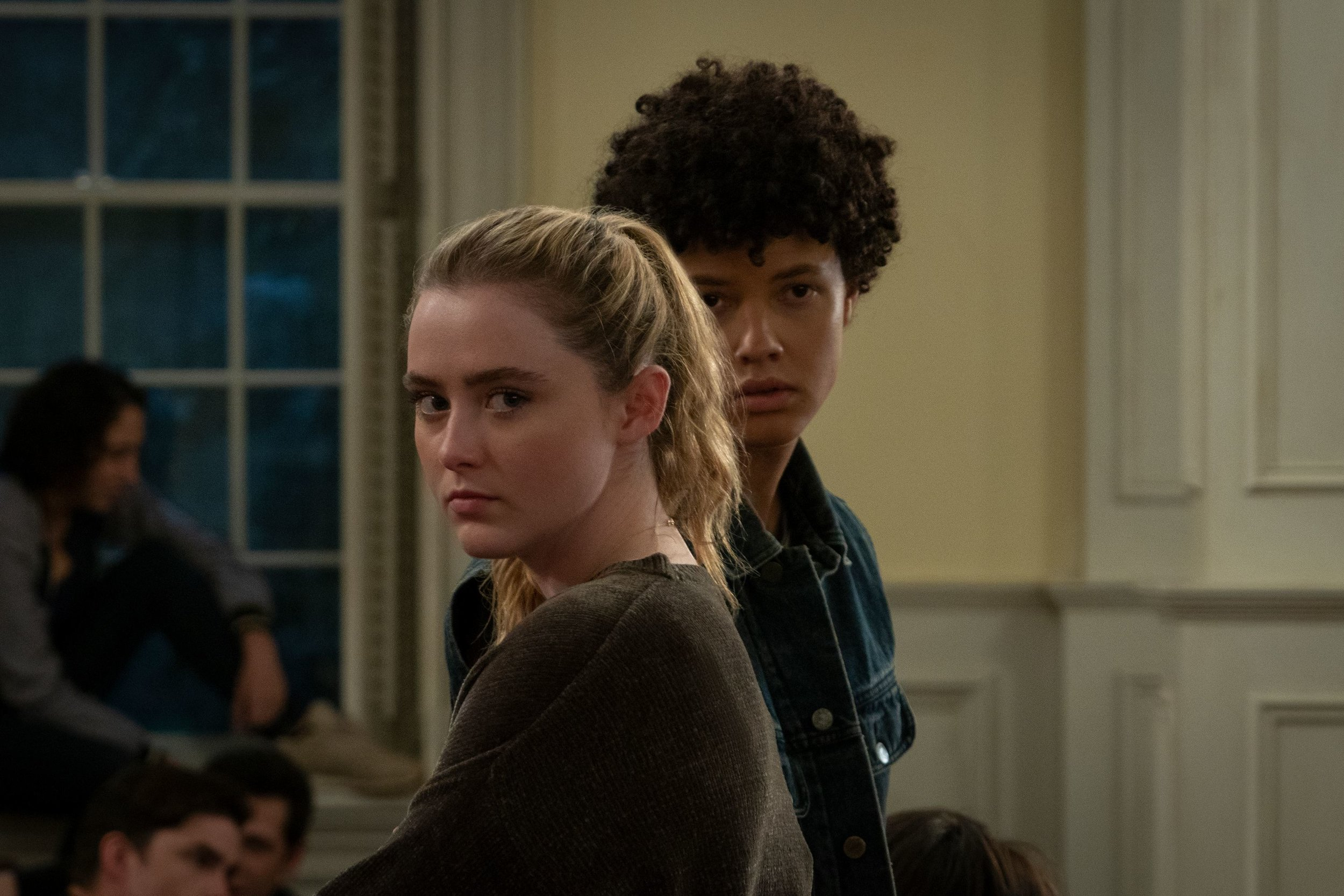 Kathryn Newton  and  Jacques Colimon  in  The Society,  from   production photos.