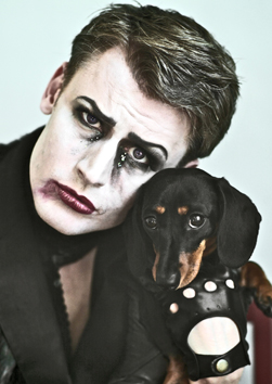 DARKLING   The first of his 'sit-down misery' shows, in which Dusty analyses his own Melancholy and confronts Death itself.  'His vocals are astonishing, with incredible power and subtlety.' (FringeGuru)  'Wickedly funny... the perfect antithesis to Edinburgh's 'comedy' obsession.' (ThreeWeeks)