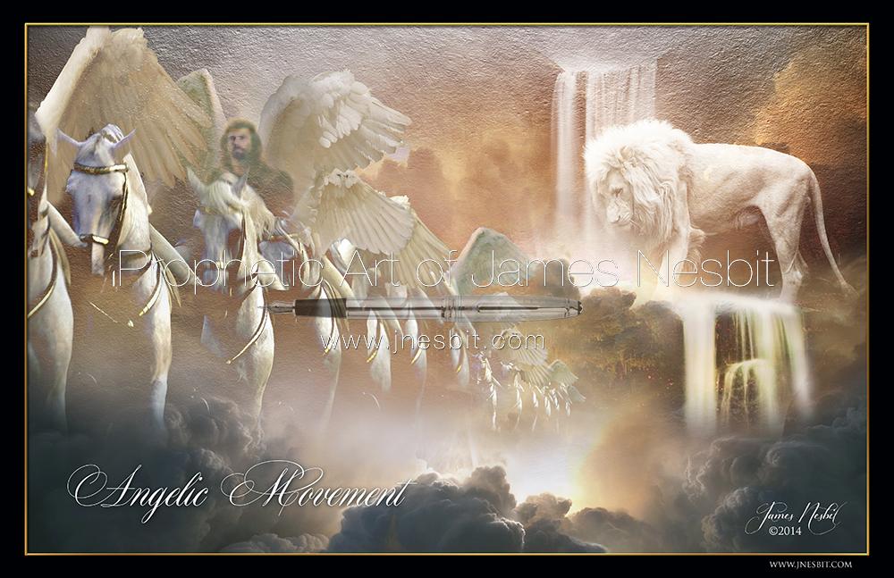 Angelic Movement — Products 3 – Prophetic Art of James Nesbit