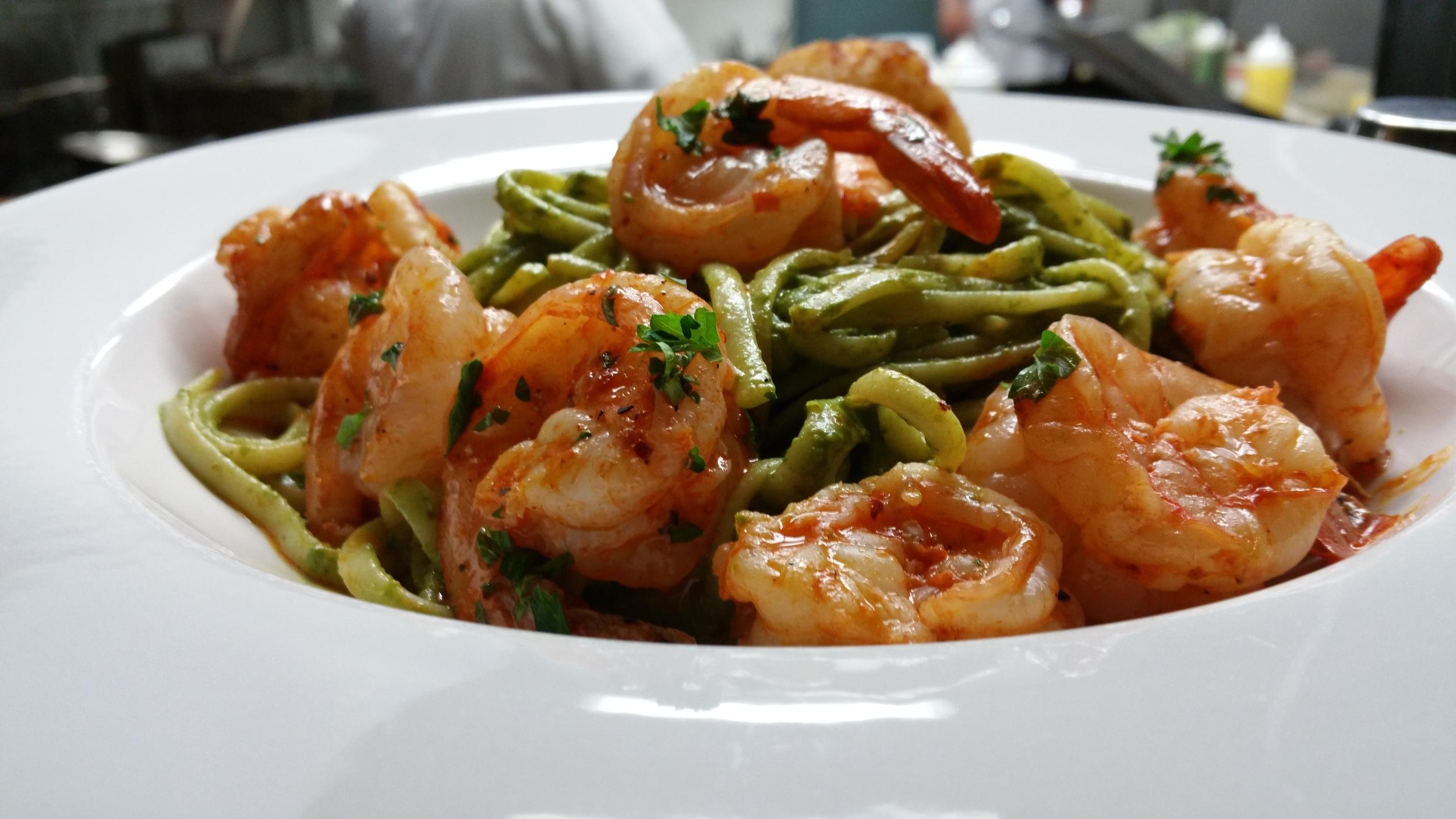 Peruvian Pesto and Shrimps