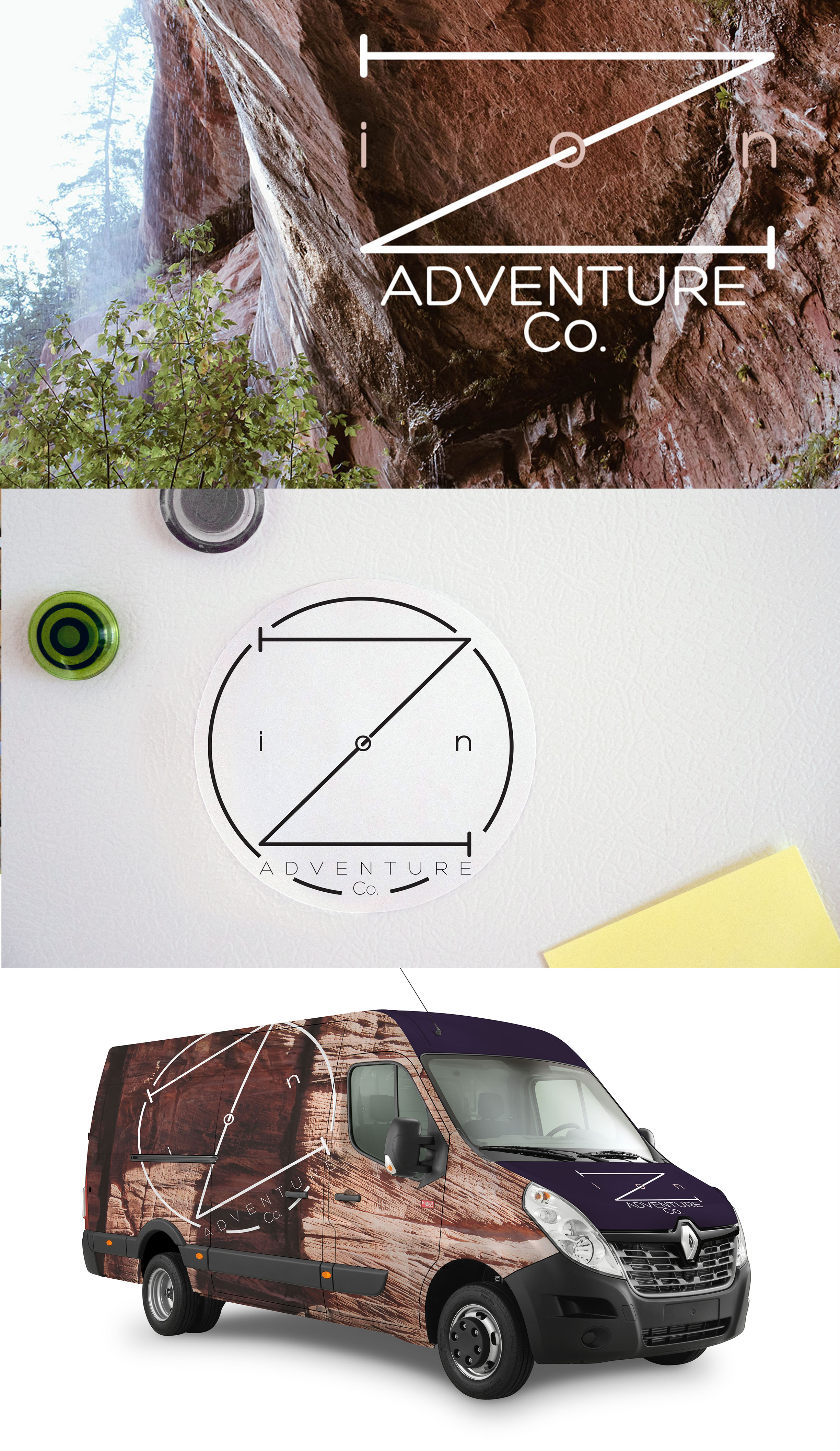 Conceptual branding inspired by Zion National Park