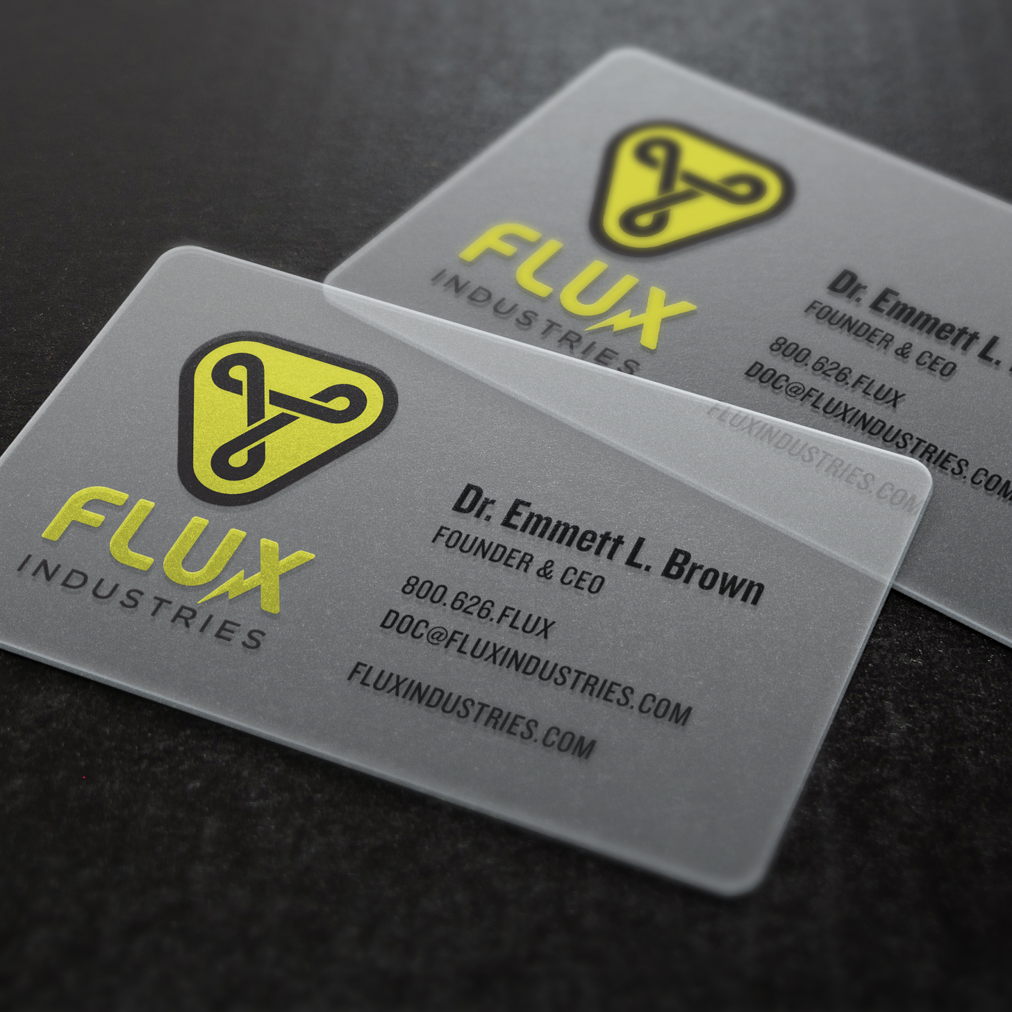 Translucent,  dust-repellent  business cards.