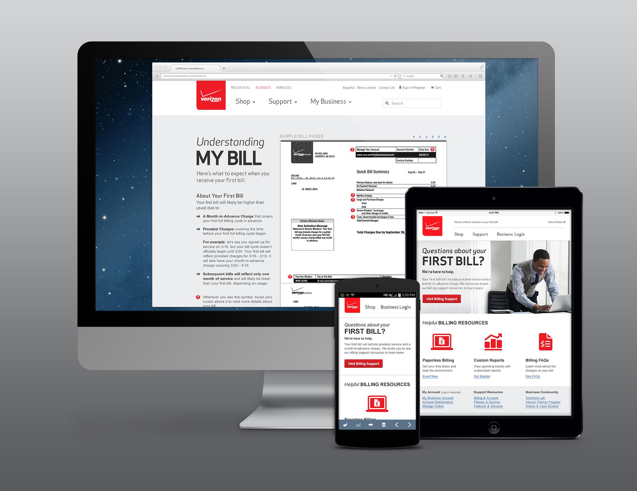 SMB Onboarding Series (2 of 4): First Bill [Responsive Email]