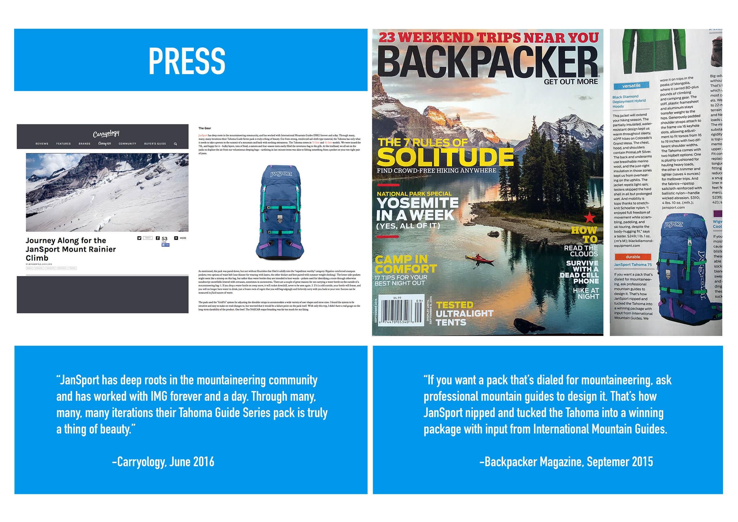 International Mountain Guides Backpack Design Backpacker Magazine Carryology