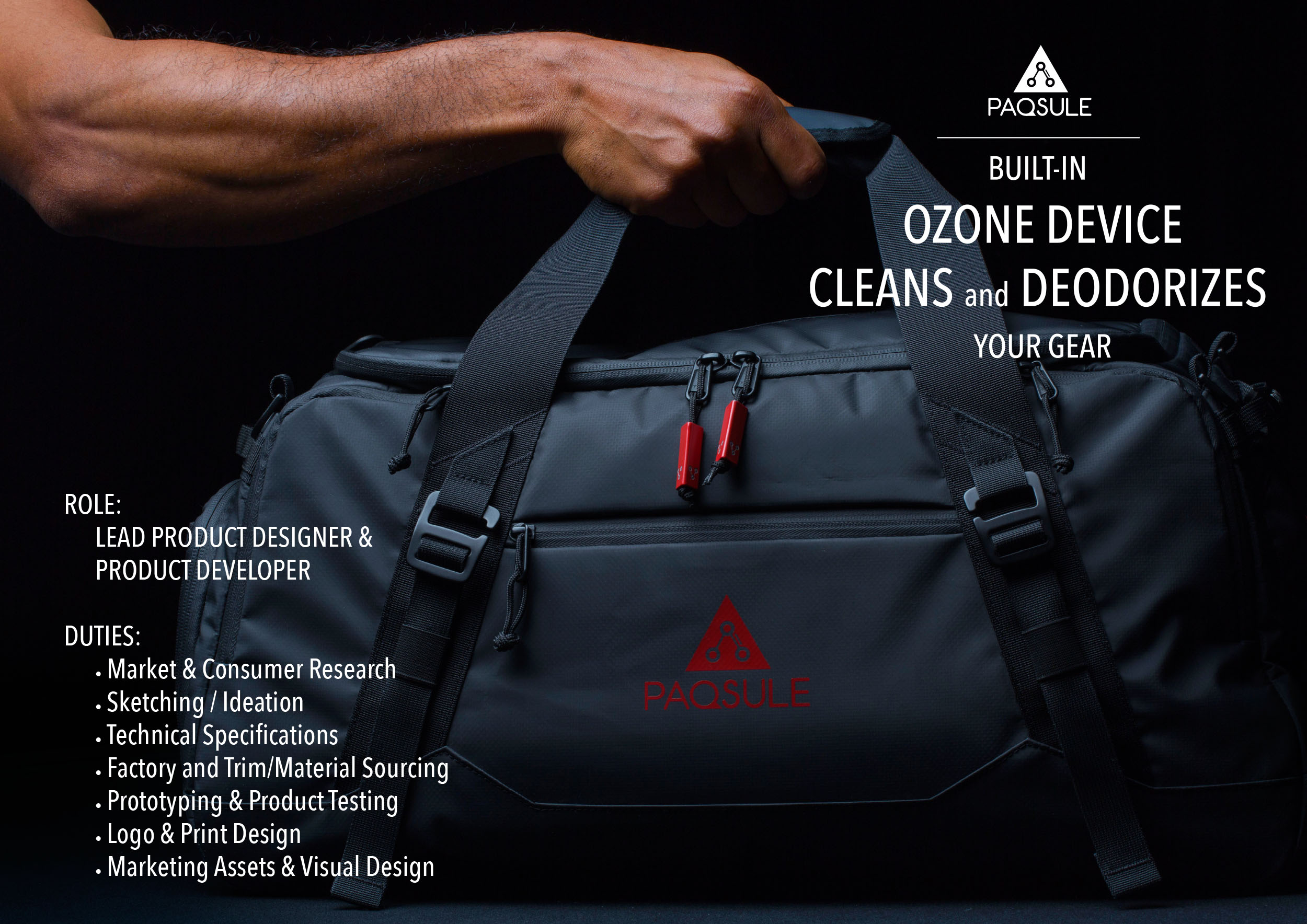 Paqsule Duffle Product Design