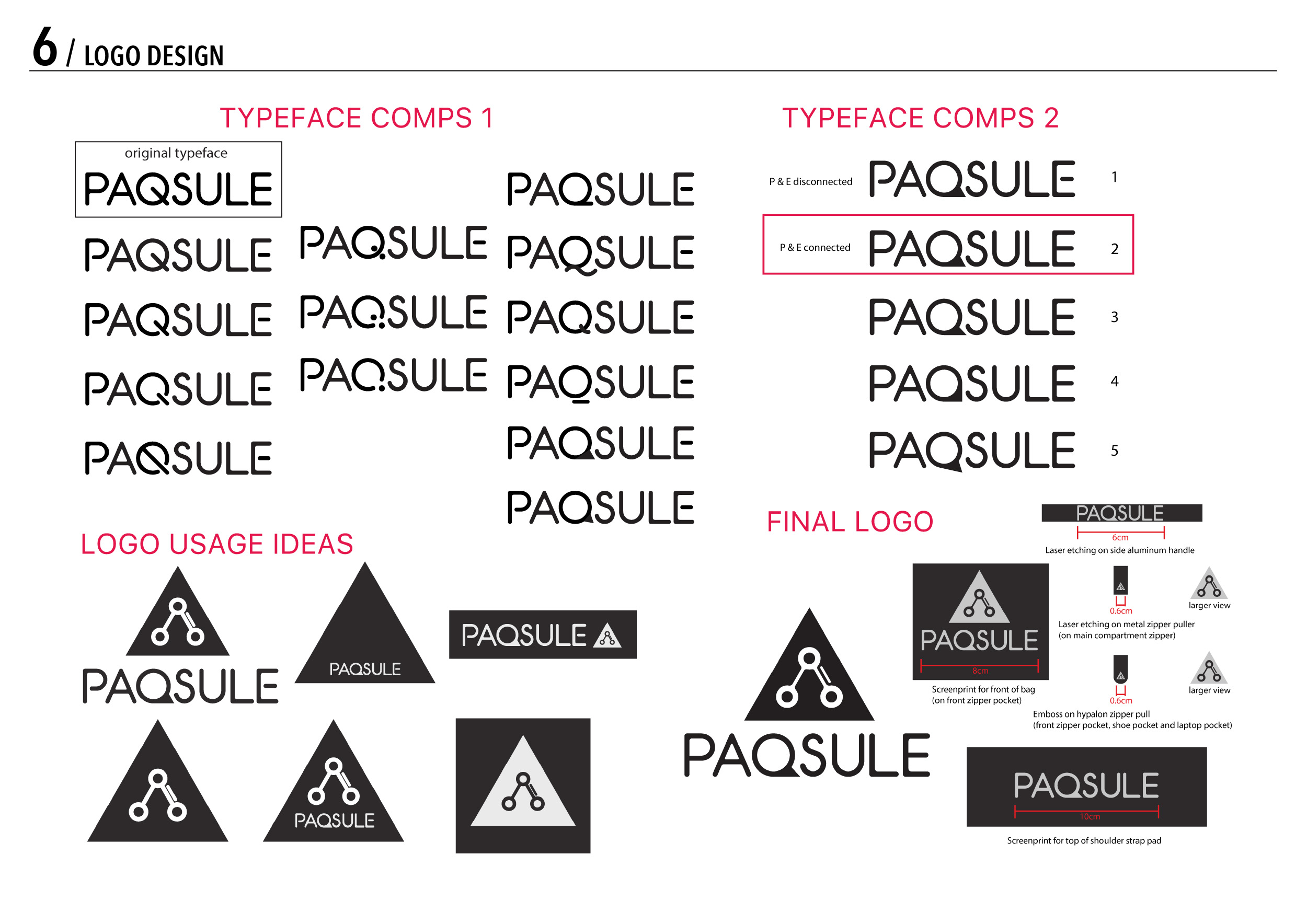 Paqsule Duffle Product Design Logos