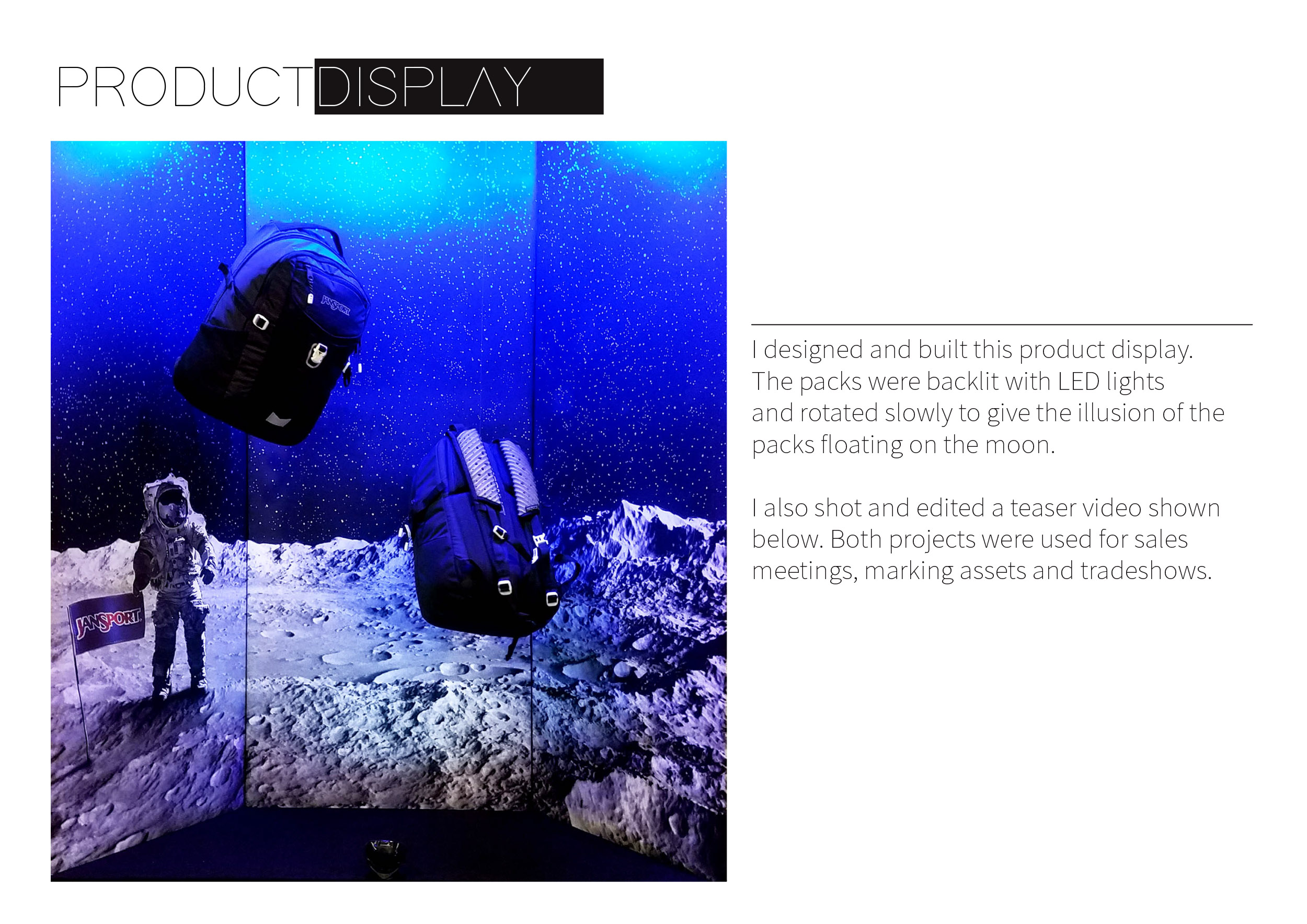 Moonlift Shoulder Strap Design Product Display