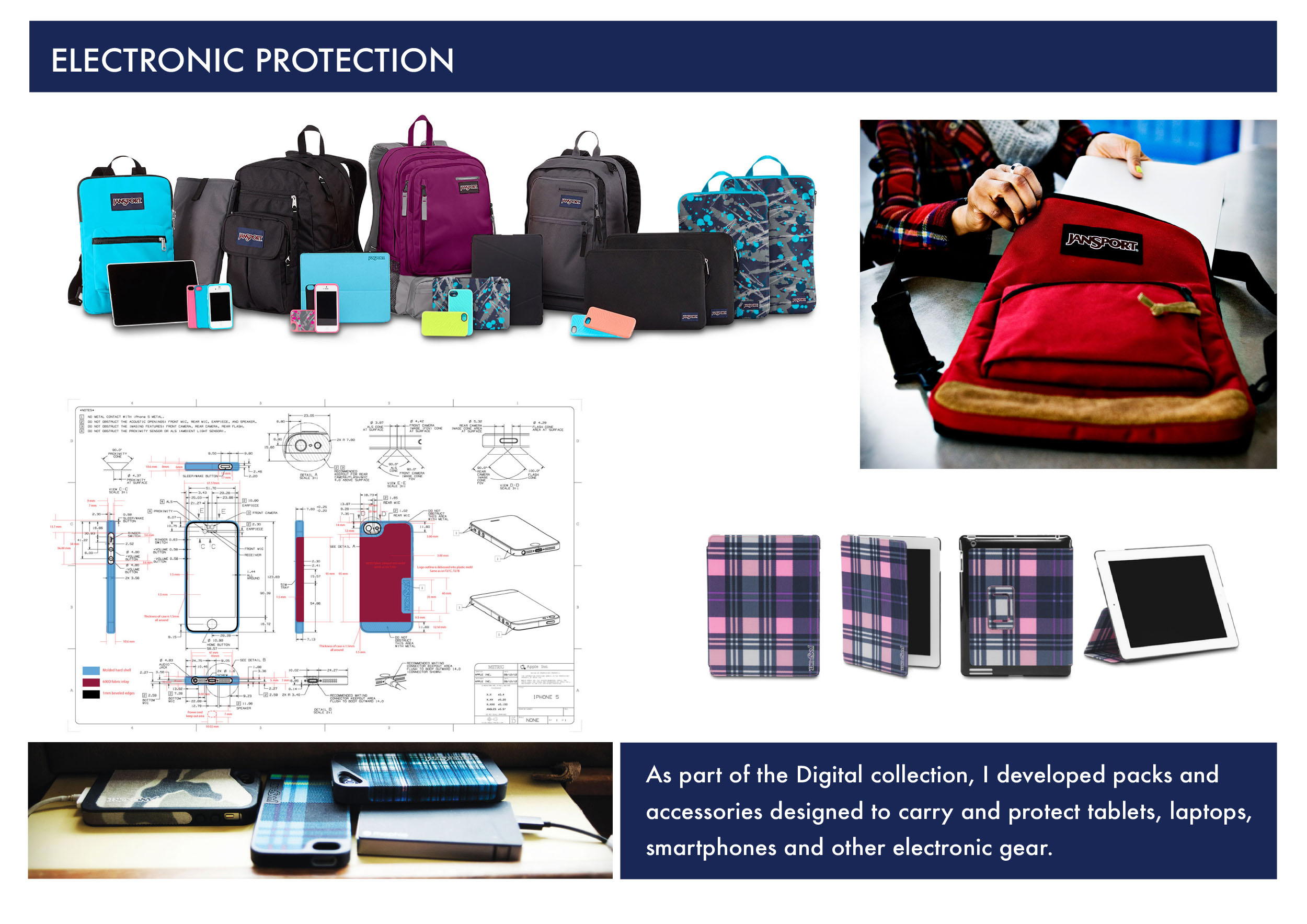 Jansport Senior Product Developer  iPad Digital iPhone Protection