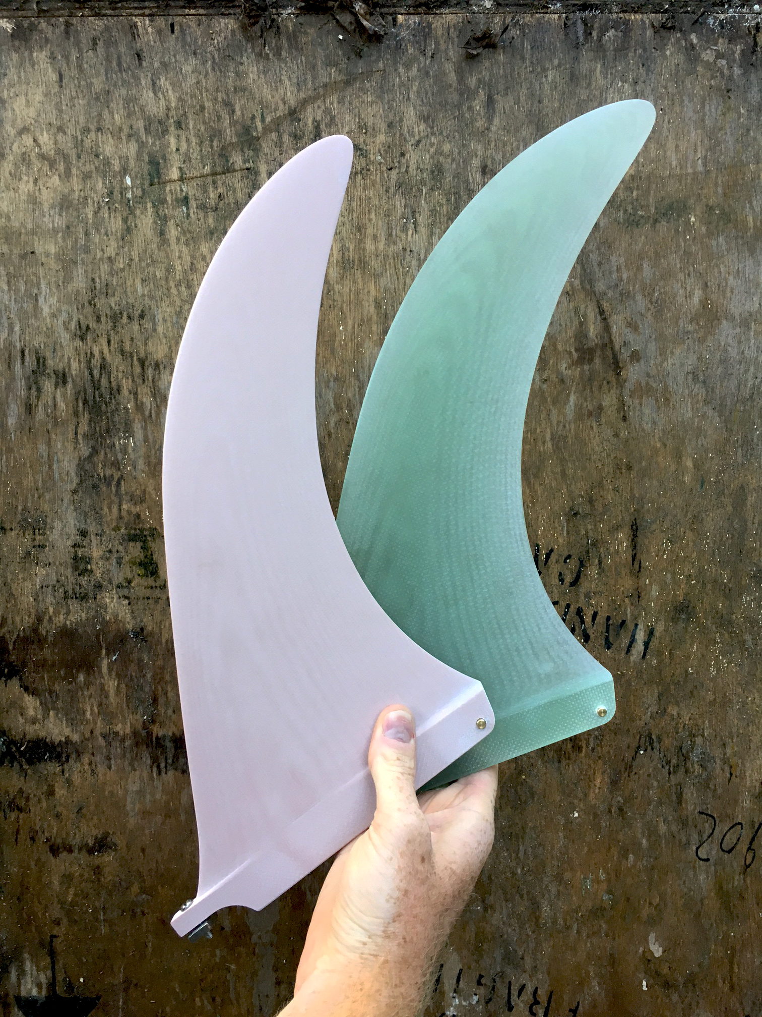 Dork 3 longboard fins in plain colours
