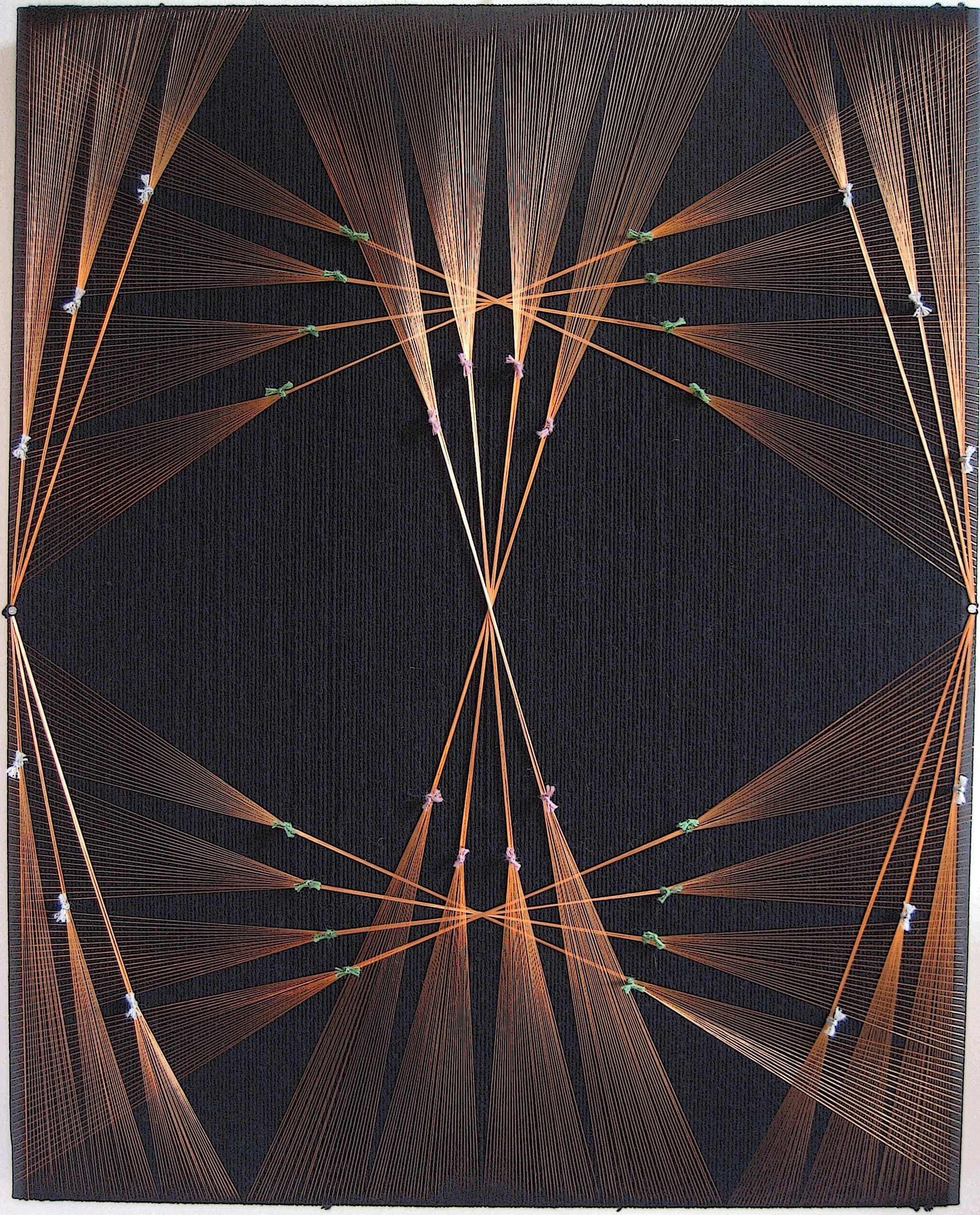 lightmosphere  2008  wool, copper  39 x 31 in.
