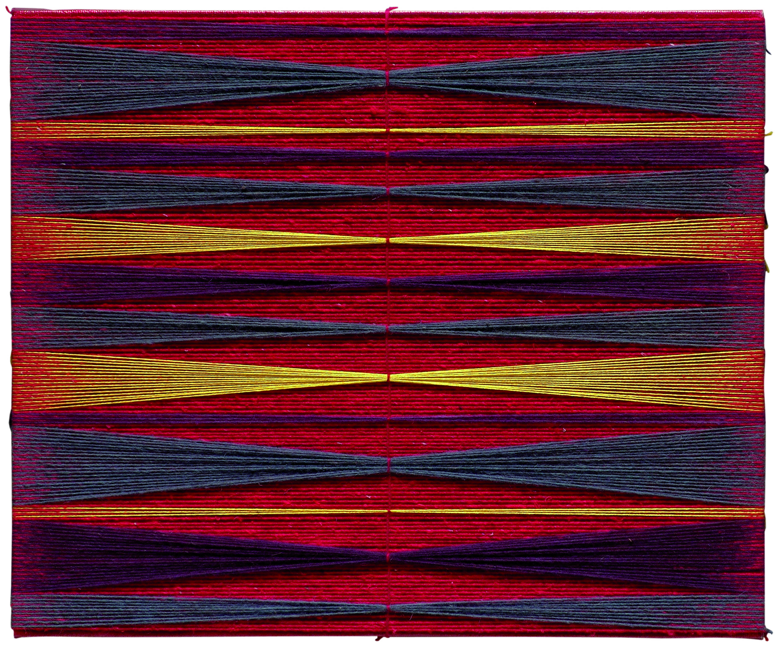 truccata per scherzo  2007  cotton, raw Mexican wool  19 x 23 in.