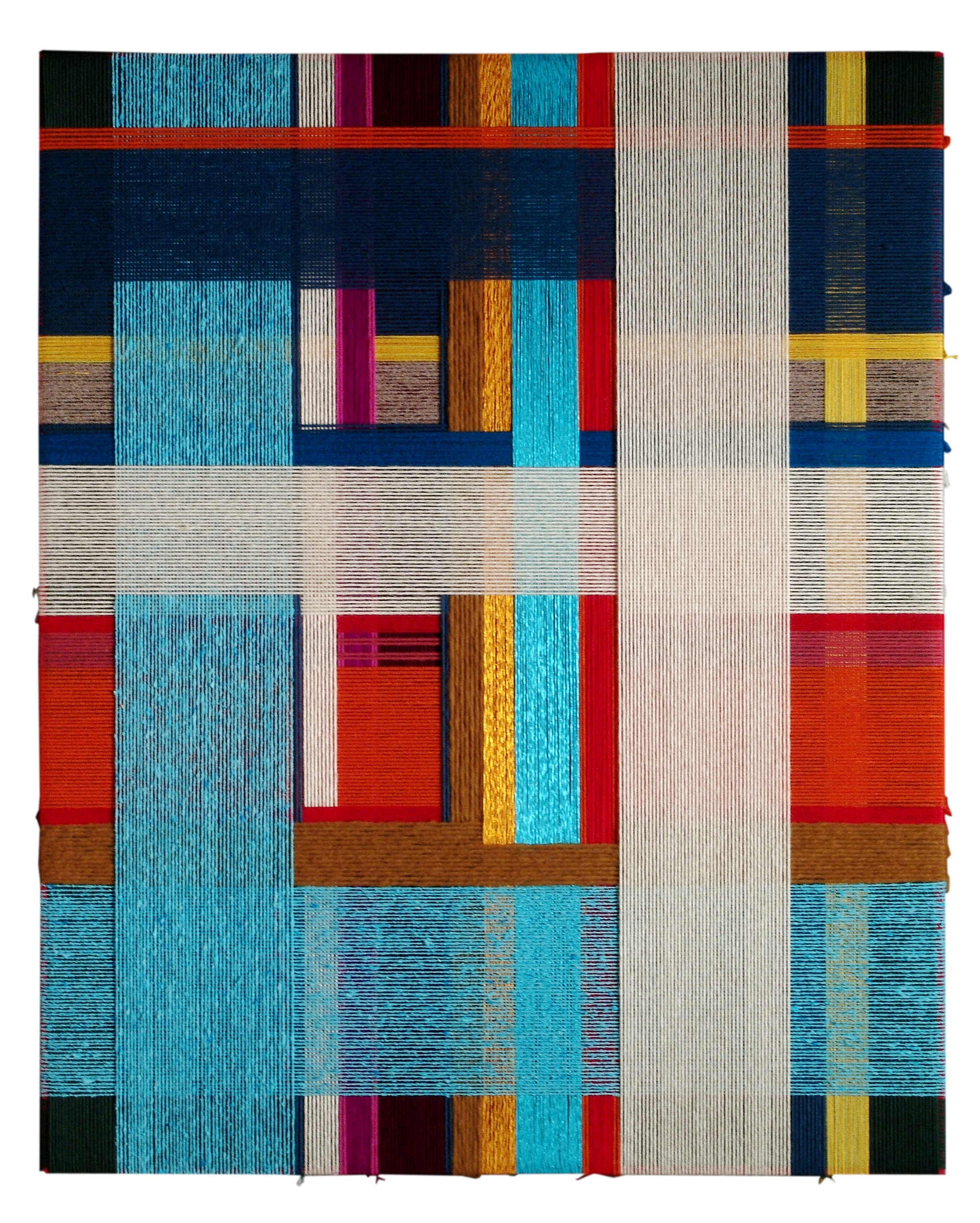 bue al macello  2007  wool, cotton  39 x 31 in.