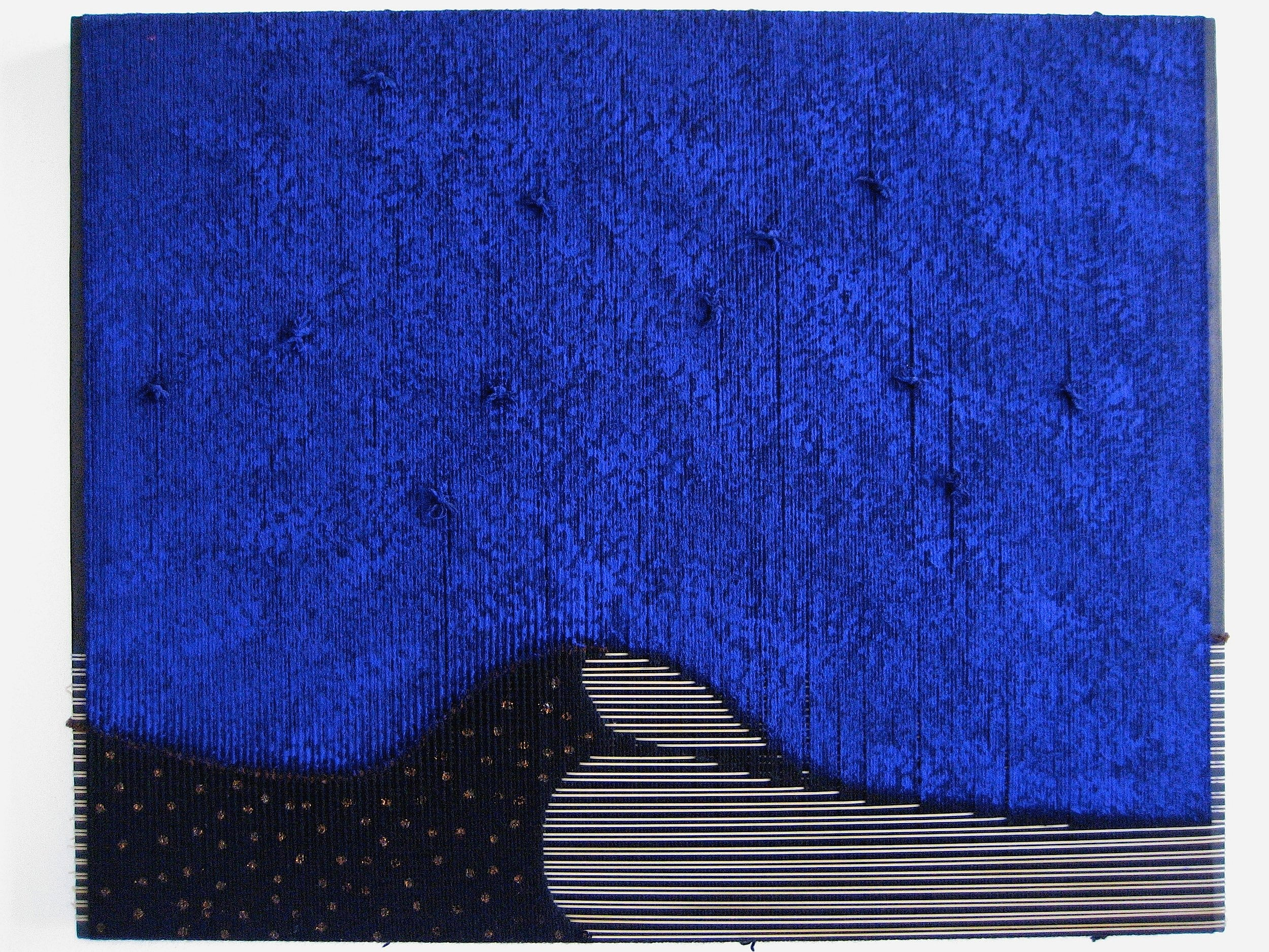 la stella riposa  2008  wool, pvc, acrylic  31 x 39 in.