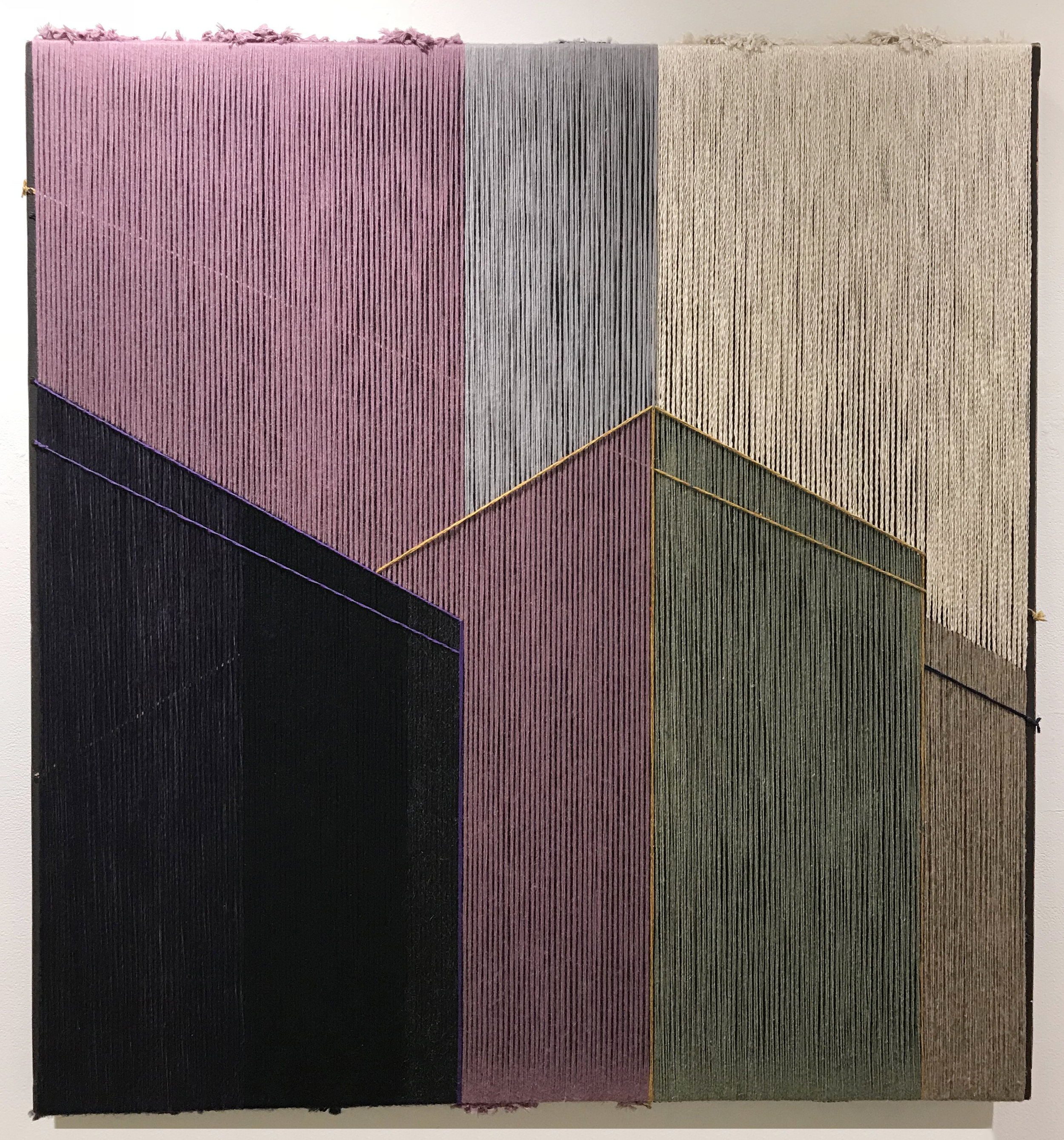 anonymous storefronts  2016  raw Mexican wool, Iranian wool, cotton, alpaca  51 x 48 in.