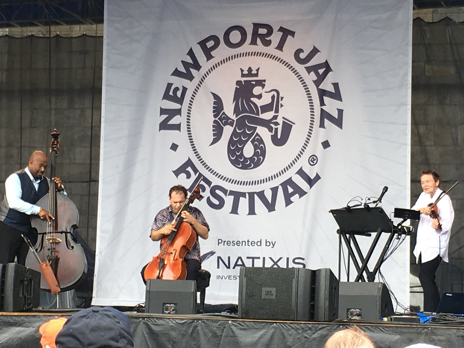 Rubin performs at Newport Jazz Festival 2018 with Laurie Anderson and Christian McBride.