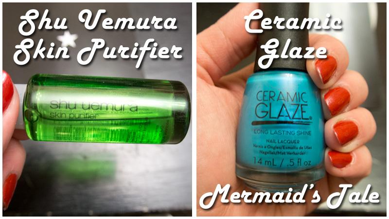 Shu Uemura Skin Purifier and Ceramic Glaze Mermaid's Tale