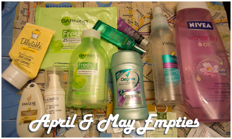 April & May Empties!