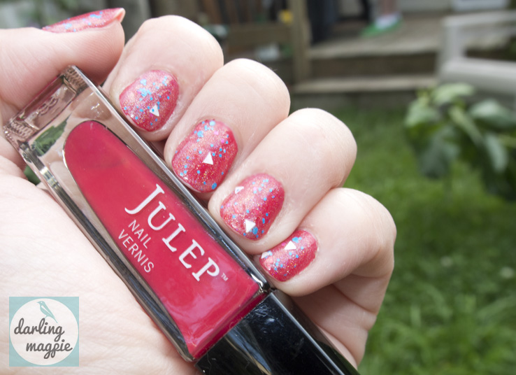 Julep's Rose is a striking watermelon red!