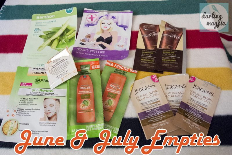 June & July Empties!