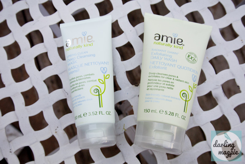 Amie Naturally Kind Skincare: Deep Cleansing Mask & Exfoliating Daily Wash