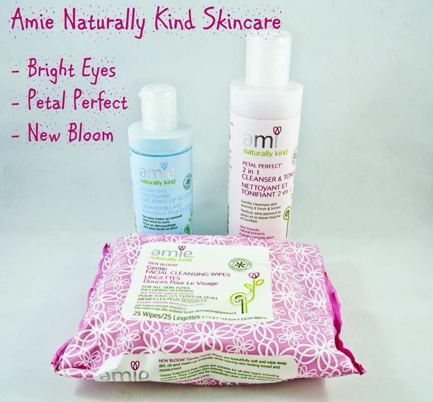Amie Naturally Kind Skincare: Bright Eyes, Petal Perfect and New Bloom