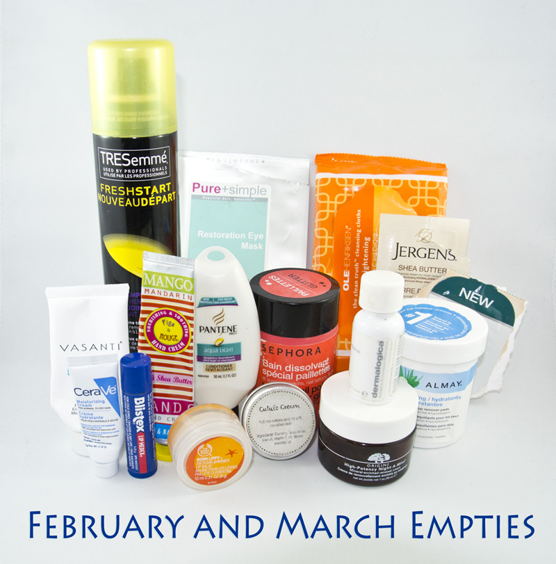 February and March 2015 Empties