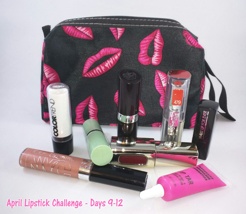 April Lipstick Challenge - Days 9-12