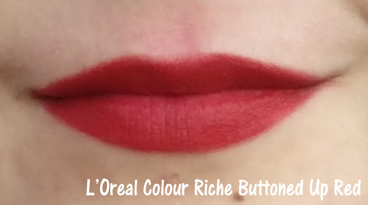 L'Oreal Colour Riche Buttoned Up Red