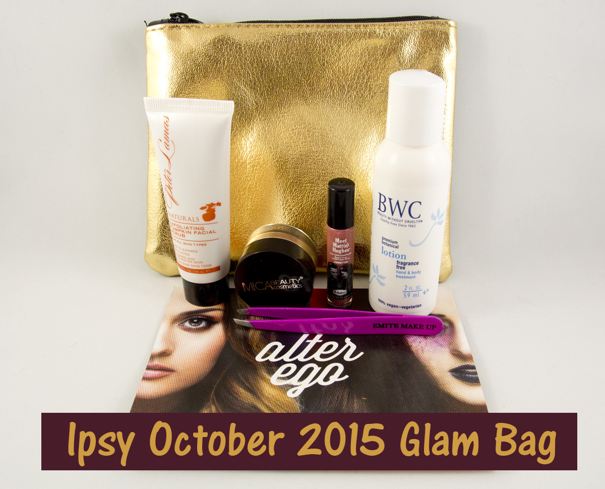 It's Ipsy October 2015 time!