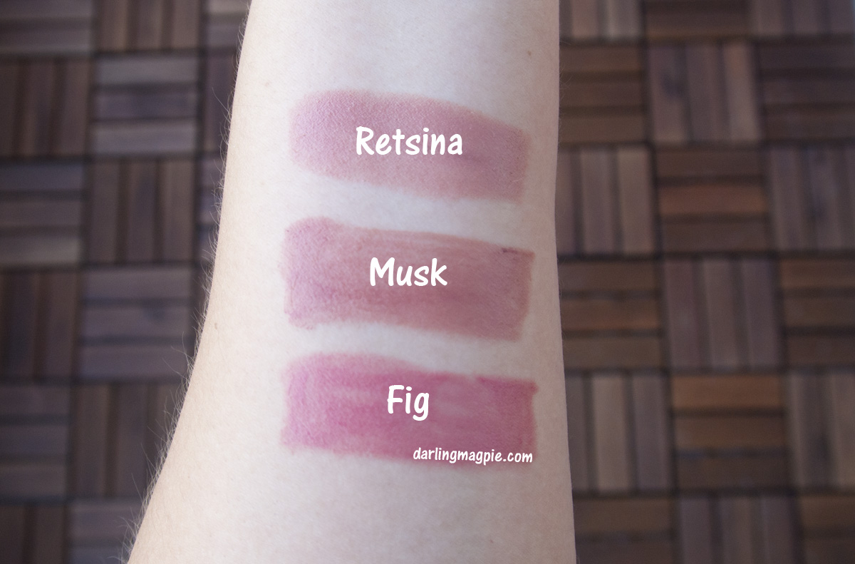 The Nudes ~Bite Beauty Retsina, Bite Beauty Musk, Bite Beauty Fig