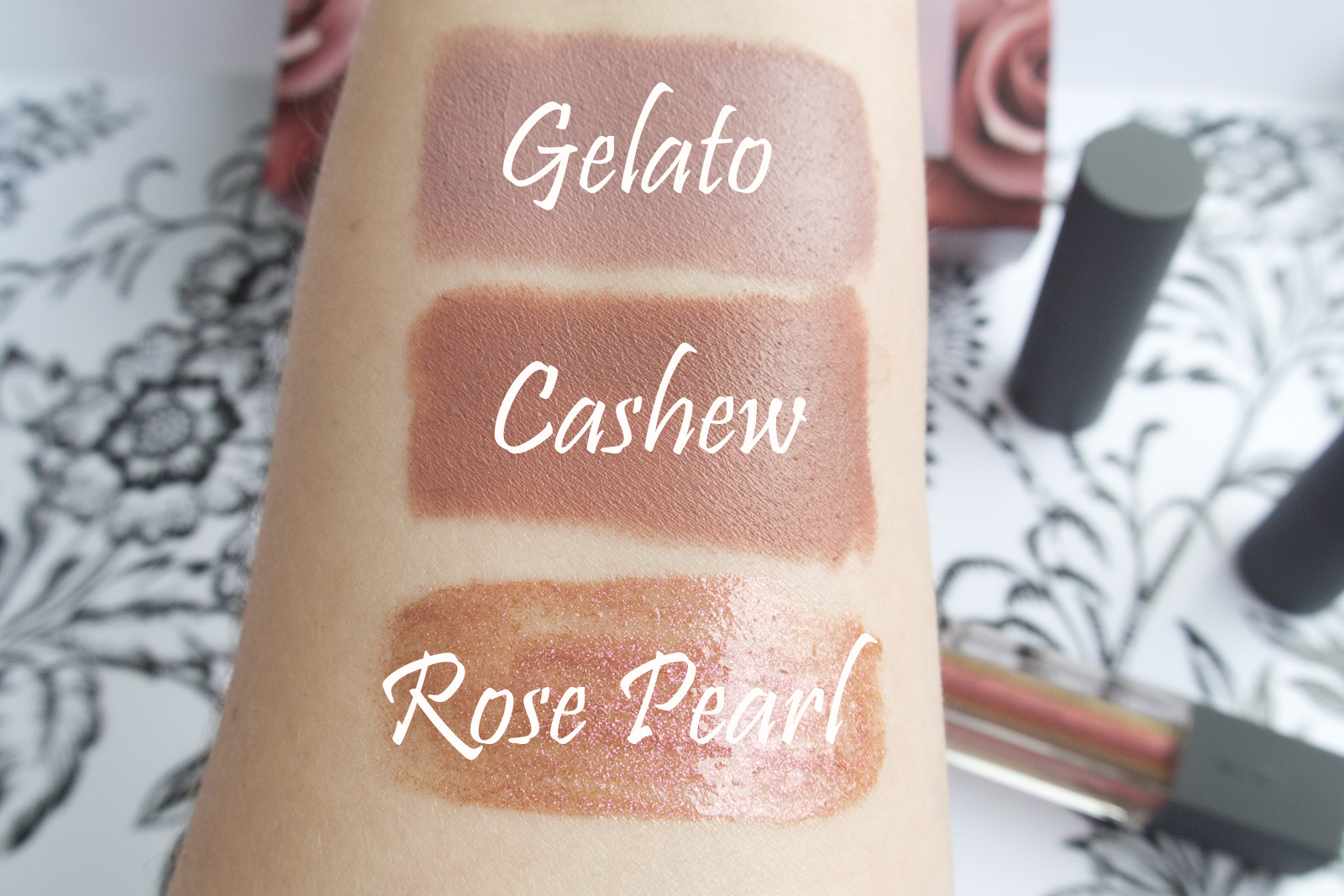 Bite Beauty Multisticks in Gelato and Cashew & Rose Pearl Creme Lip Gloss