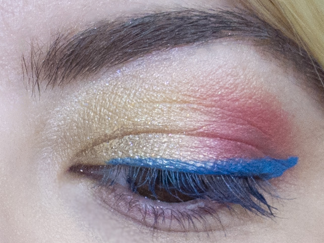 Close-up. I may have photoshopped my brow cleaner but the rest is legit!
