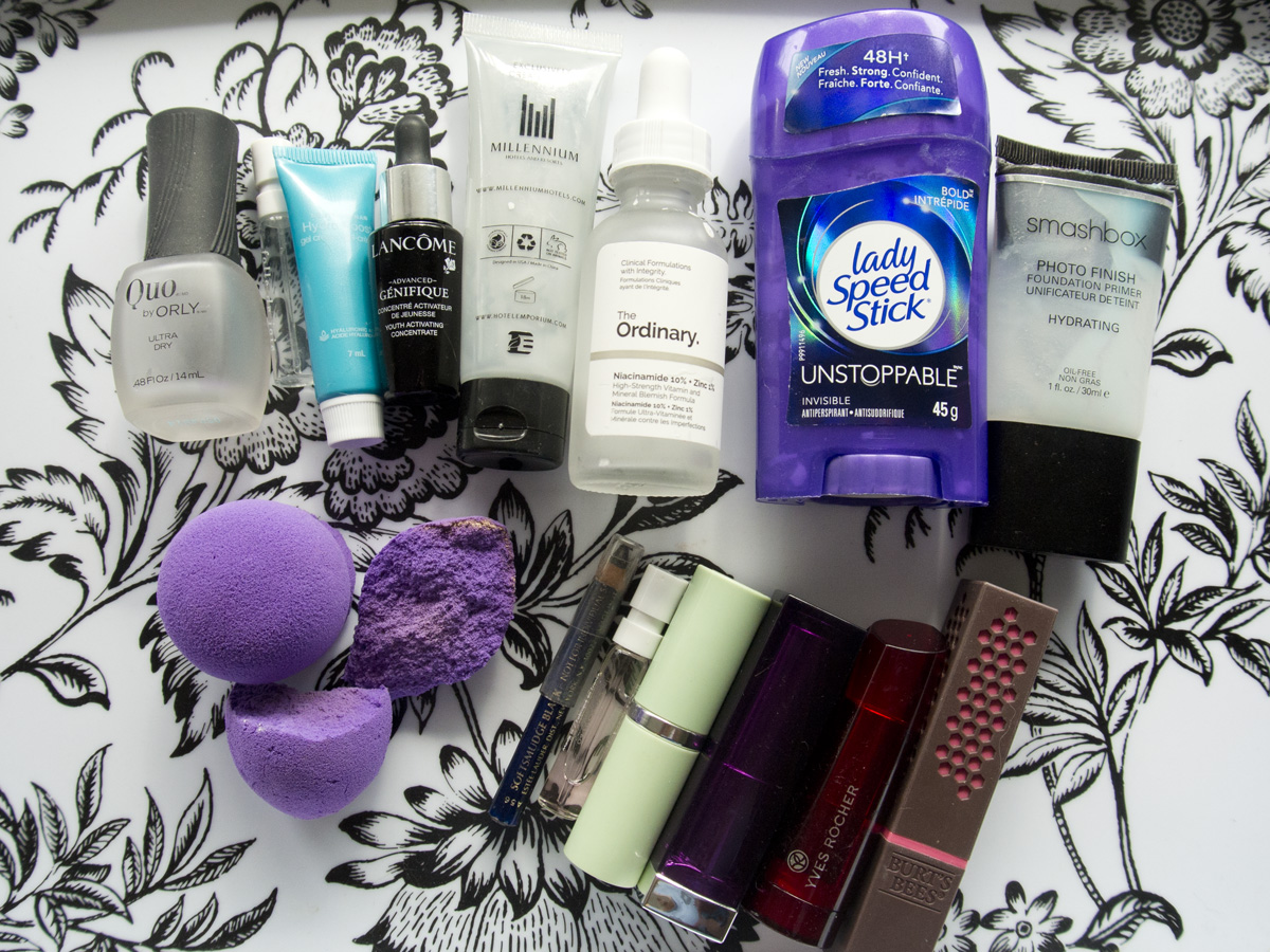 My empties and tosses for April